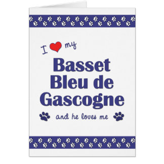 I Love My Basset Bleu de Gascogne (Male Dog) Card