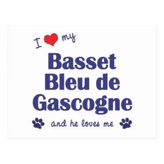 I Love My Basset Bleu de Gascogne (Male Dog) Postcard