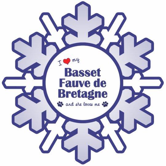 I Love My Basset Fauve de Bretagne (Female Dog) Statuette