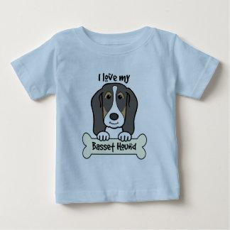 I Love My Basset Hound Baby T-Shirt