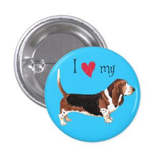 I Love my Basset Hound Pinback Button