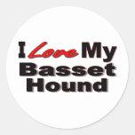 I Love My Basset Hound Dog Merchandise Sticker