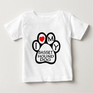 I Love My Basset Hound. Dog Tee Shirts
