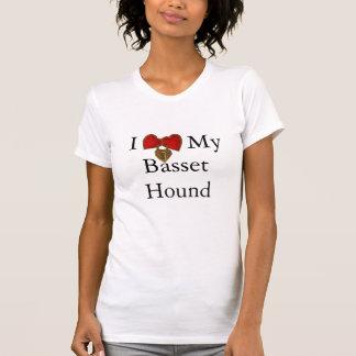 I Love My Basset Hound Double Heart Lock Tshirts