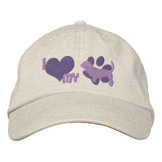 I Love my Basset Hound Embroidered Hat (Purple)