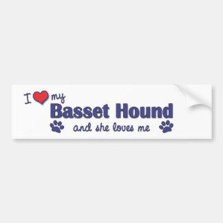 I Love My Basset Hound (Female Dog) Bumper Sticker