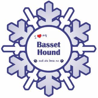 I Love My Basset Hound (Female Dog) Photo Cut Outs