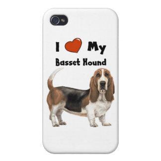 I Love My Basset Hound iPhone 4/4S Case