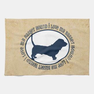 I Love My Basset Hound Towel