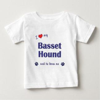 I Love My Basset Hound (Male Dog) T-shirts