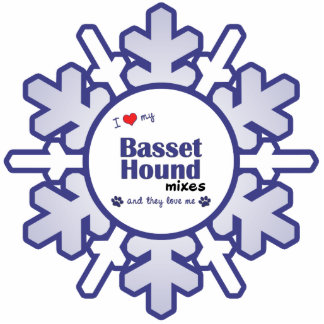 I Love My Basset Hound Mixes (Multiple Dogs) Acrylic Cut Outs