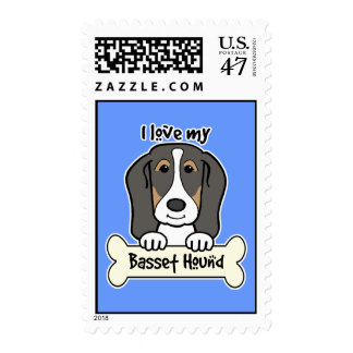 I Love My Basset Hound Postage