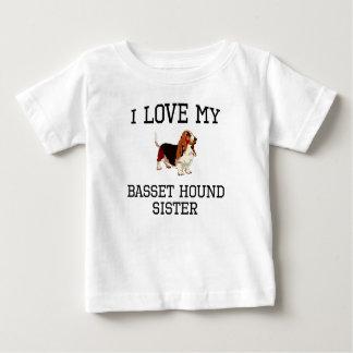 I Love My Basset Hound Sister Shirt