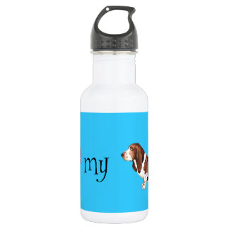 I Love my Basset Hound Stainless Steel Water Bottle