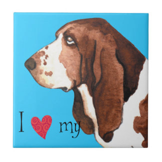 I Love my Basset Hound Tile