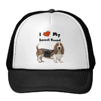 I Love My Basset Hound Trucker Hat