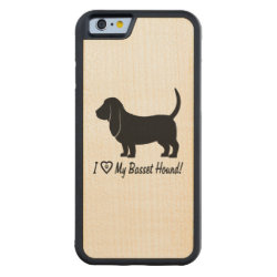Carved ® iPhone 6 Bumper Wood Case with Basset Hound Phone Cases design