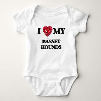 I love my Basset Hounds Baby Bodysuit
