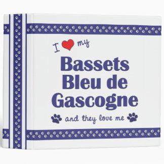 I Love My Bassets Bleu de Gascogne (Multiple Dogs) Binders