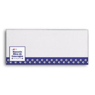 I Love My Bassets Bleu de Gascogne (Multiple Dogs) Envelopes