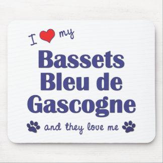 I Love My Bassets Bleu de Gascogne (Multiple Dogs) Mouse Pad