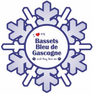 I Love My Bassets Bleu de Gascogne (Multiple Dogs) Photo Sculptures