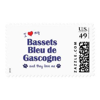 I Love My Bassets Bleu de Gascogne (Multiple Dogs) Postage