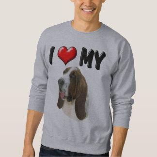 I Love My Bassett Hound Sweatshirt
