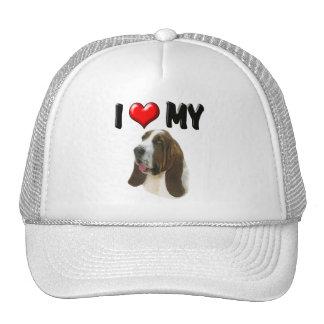 I Love My Bassett Hound Trucker Hat