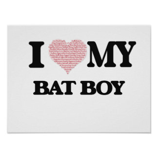 I love my Bat Boy (Heart Made from Words) Poster