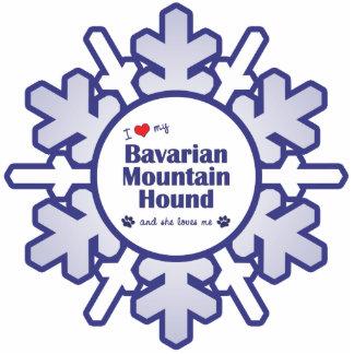 I Love My Bavarian Mountain Hound (Female Dog) Cutout