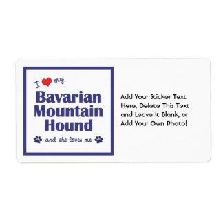 I Love My Bavarian Mountain Hound (Female Dog) Label