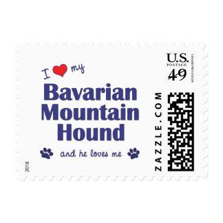 I Love My Bavarian Mountain Hound (Male Dog) Postage