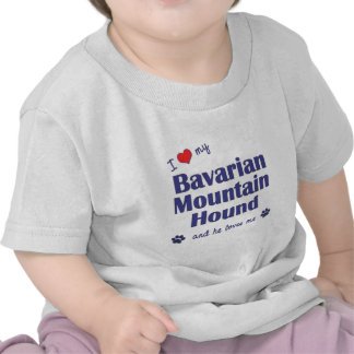 I Love My Bavarian Mountain Hound (Male Dog) T Shirts
