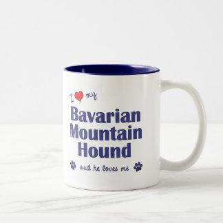 I Love My Bavarian Mountain Hound (Male Dog) Two-Tone Coffee Mug