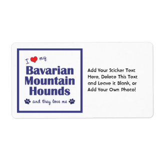 I Love My Bavarian Mountain Hounds (Multiple Dogs) Label