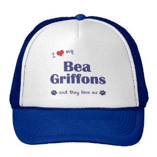 I Love My Bea Griffons (Multiple Dogs) Mesh Hat