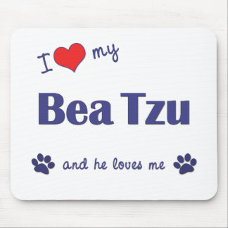 I Love My Bea Tzu (Male Dog) Mouse Pads