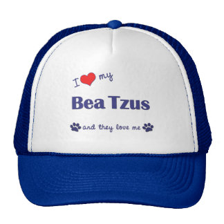 I Love My Bea Tzus (Multiple Dogs) Hats