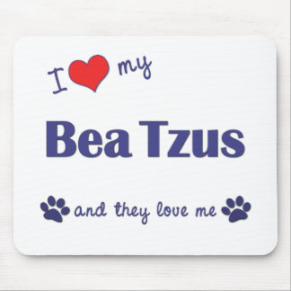 I Love My Bea Tzus (Multiple Dogs) Mouse Mats