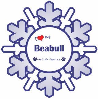 I Love My Beabull (Female Dog) Cutout