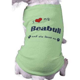 I Love My Beabull (Female Dog) Doggie Tee Shirt