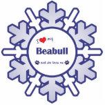 I Love My Beabull (Female Dog) Photo Sculpture Ornament