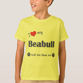 I Love My Beabull (Female Dog) T-Shirt