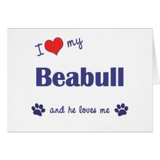I Love My Beabull (Male Dog) Card