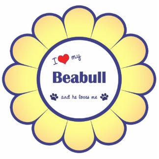 I Love My Beabull (Male Dog) Photo Sculptures