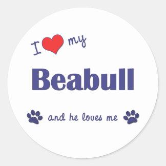 I Love My Beabull (Male Dog) Sticker