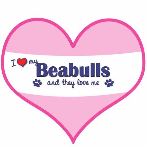 I Love My Beabulls (Multiple Dogs) Photo Sculpture Ornament