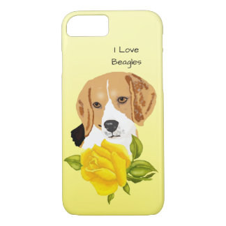 I Love My Beagle and Yellow Roses iPhone 8/7 Case
