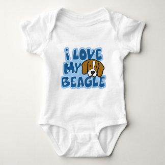 I Love My Beagle Baby Creeper